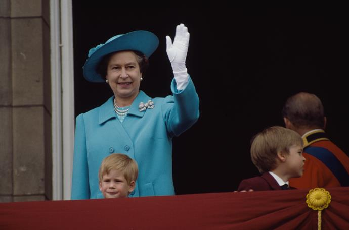 A young Prince Harry wasn't afraid to take centre stage with his granny at Trooping the Colour in 1988.