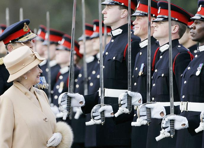 Though even at serious times like his Sandhurst military graduation, he wasn't afraid to crack a smile.