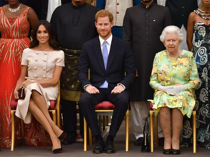 The Duke and Duchess accompanied Her Majesty to the Queen's Young Leaders Awards hosted at Buckingham Palace.