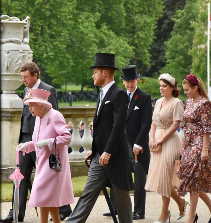Even when Archie was a newborn, Prince Harry took time to accompany his grandmother to an official garden party.