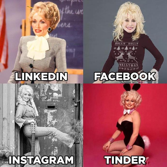 The start of a movement: Dolly Parton's original meme is arguably the best.