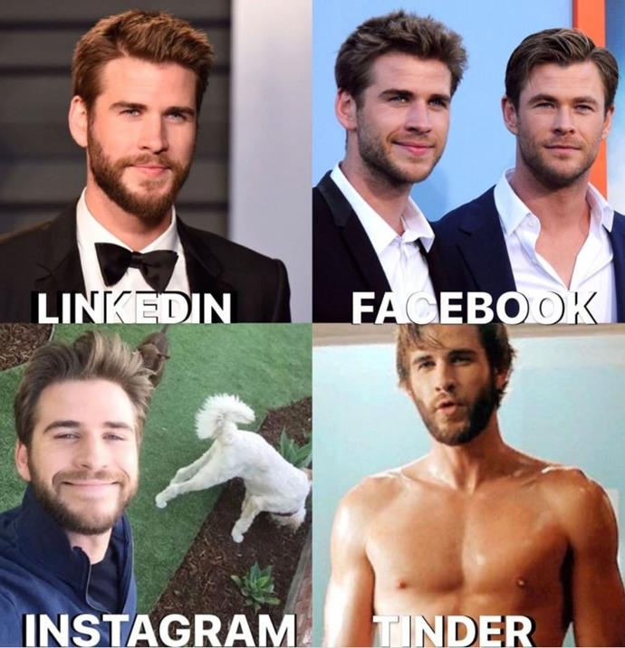 Liam Hemsworth, you can add us on any form of social media.