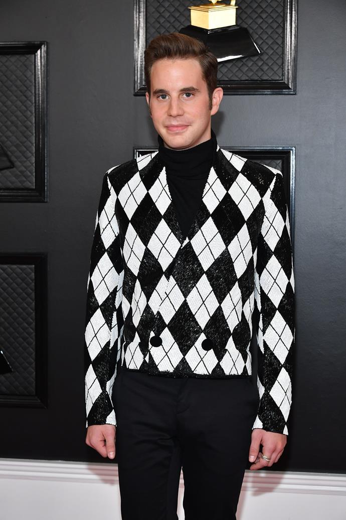 *Pitch Perfect's* Ben Platt is checkered heaven.