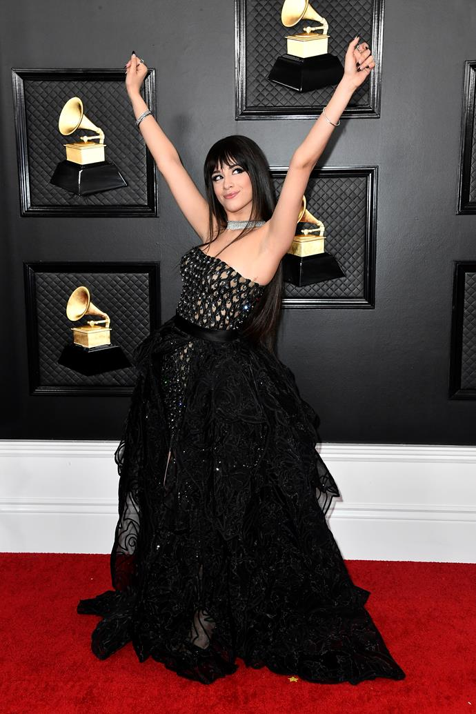 Camila Cabello is triumphant in black. Gothic glam at its best.