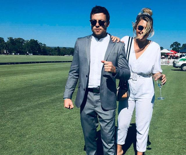 """She's trying to stop me getting on the horse,"" Patrick joked during a day out at the races."