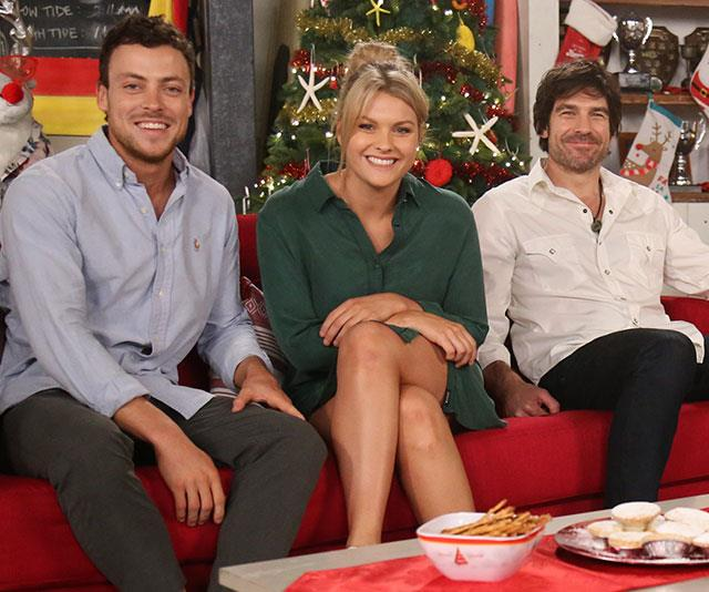 The *Home and Away* Christmas special spells festive fever for the couple.