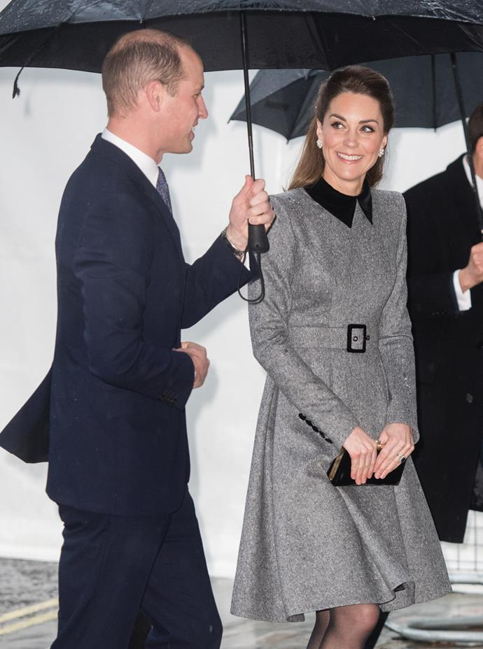 Kate recycled one of her favourite coats for the occasion.