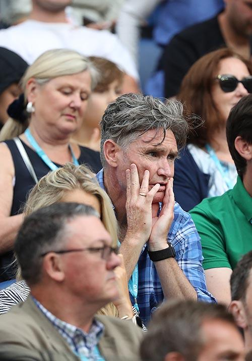 Comedian Dave Hughes was looking rather stressed in the crowds - here's hoping he was a Nadal fan in the end!