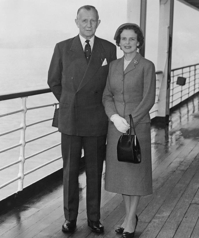 Jennifer grandparents, General Sir Reginald Alexander Dallas Brooks and Lady Muriel Violet Brooks circa 1950.