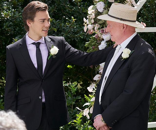 Ryder is thrilled to be his grandad's best man.