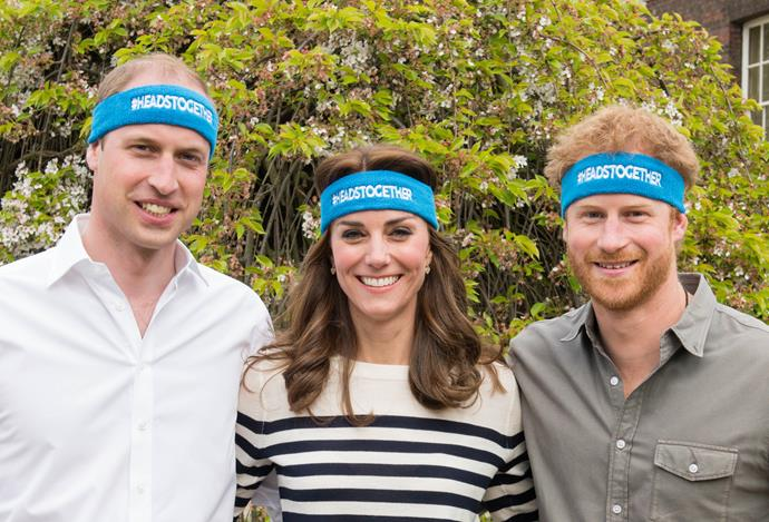 William, Kate and Harry launched Heads Together, a campaign that supports people suffering from mental health.