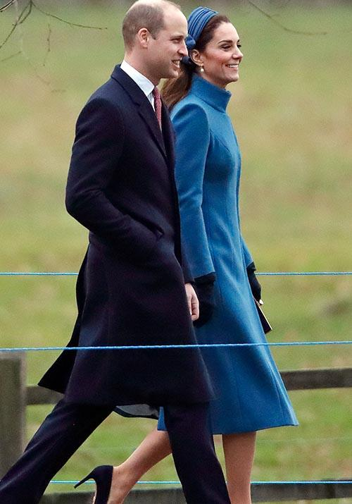 "Versatile as ever, Kate stepped out in the same coat as she [attended church at Sandringham](https://www.nowtolove.com.au/royals/british-royal-family/kate-middleton-blue-coat-church-53335|target=""_blank"") in early 2019."