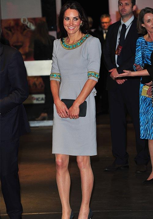 In 2012, Kate looked chic in this Matthew Williamson mod dress.