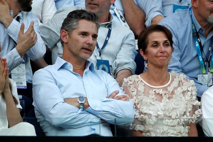Aussie-turned Hollywood screen legend Eric Bana came for the Federer v Djokovic showdown.