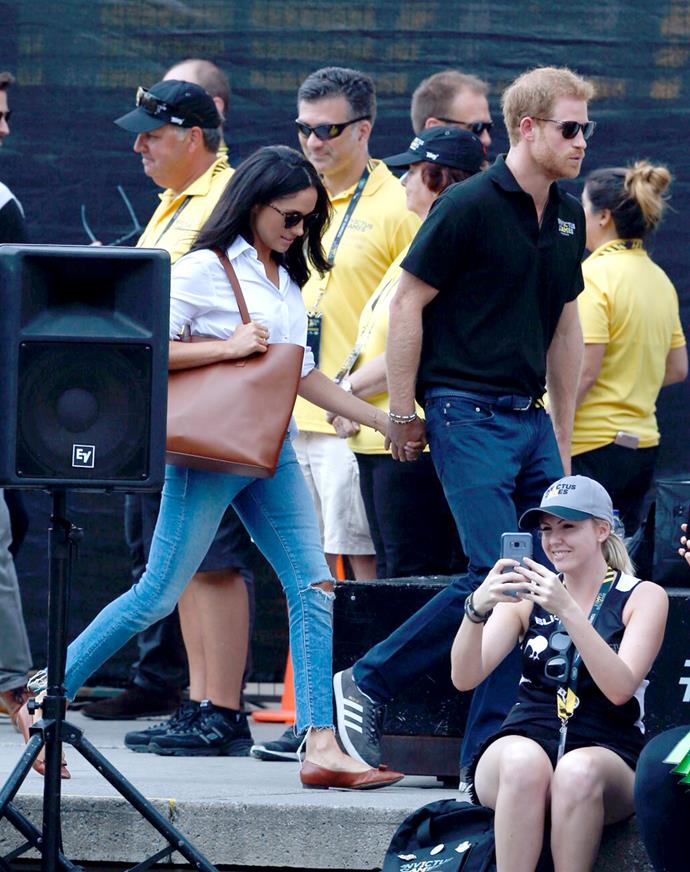 Harry and Meghan's Canadian residence was swamped with paparazzi as soon as word got out that they were staying there.