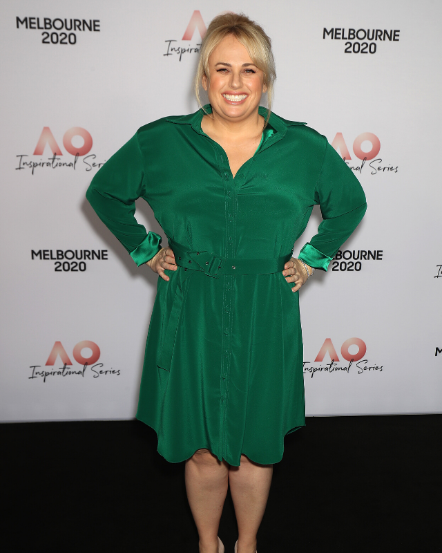 Rebel showed off her incredible new figure at the AO Inspirational Series Lunch during the Australian Open 2020 in Melbourne this week.