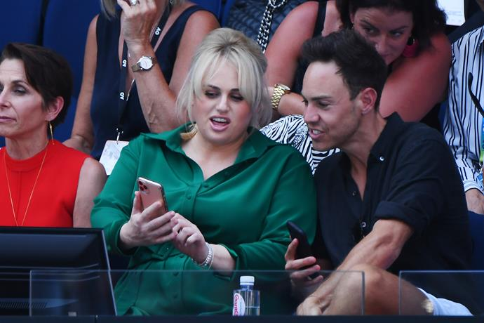 Actress Rebel Wilson cheered on fellow Aussie Ash Barty as she took on Sofia Kenin in the semi-finals. Ash was defeated by the talented US player, but her efforts were gallant to say the least.