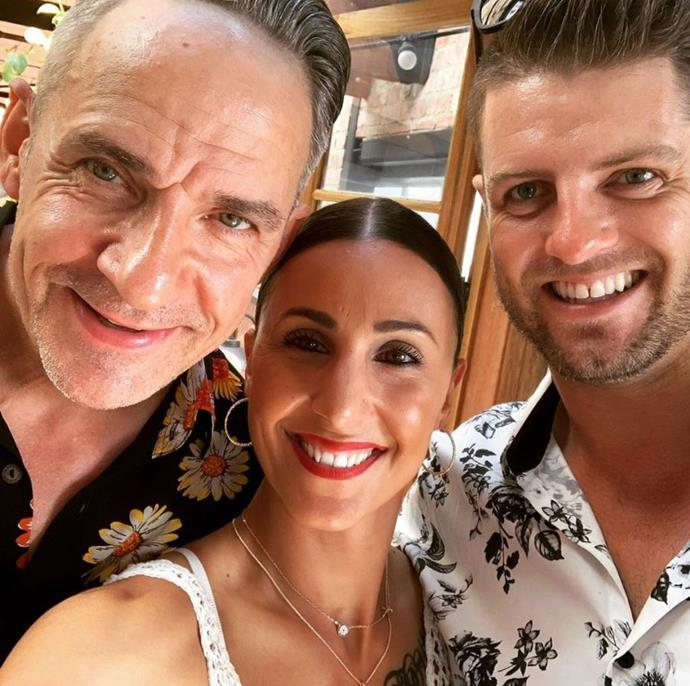 Amanda with two of the *MAFS* grooms Steve and David.
