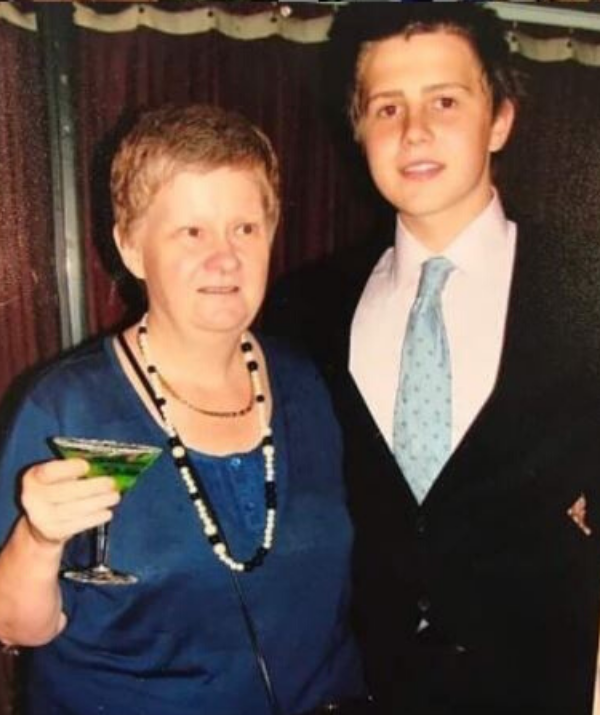 Mikey took his aunt to his Year 12 formal.