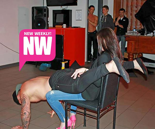 A backwards lap dance? That's actually kind of impressive.