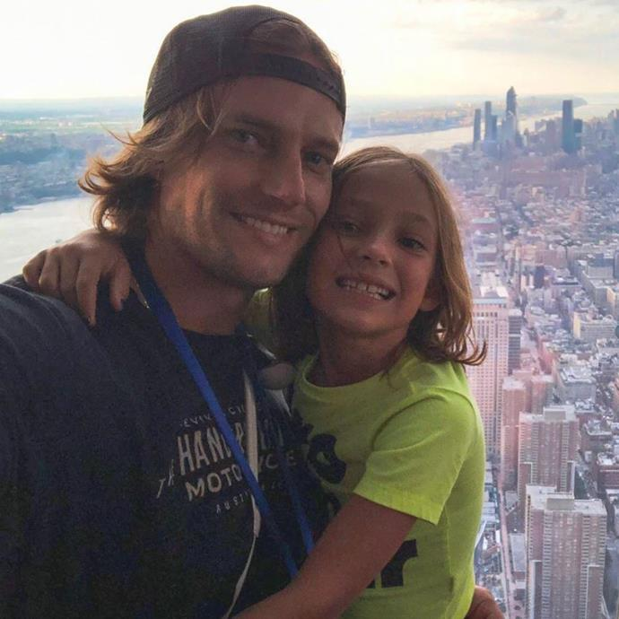 David and his daughter Rei in New York.