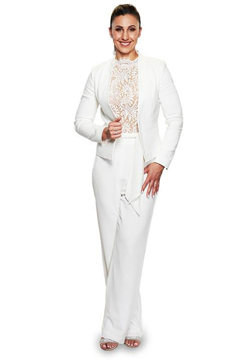 "The stunning Amanda opted for a [pant-suit](https://www.nowtolove.com.au/reality-tv/married-at-first-sight/married-at-first-sight-amanda-family-62384|target=""_blank"") for her big day, and we're here for it!"