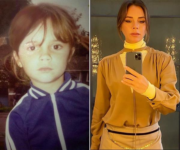 Victoria Beckham may have been Posh in her Spice Girl days but she looked more Sporty when she was a little one.