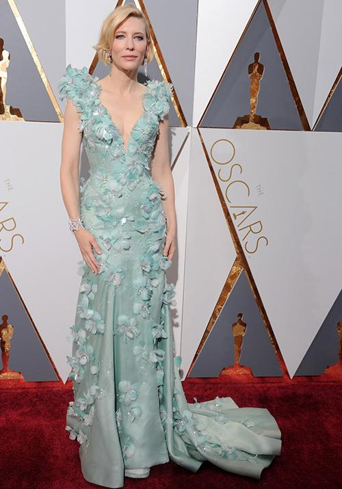 "And how could we ever forget Cate Blanchett? Her [2018 Oscars look](https://www.nowtolove.com.au/fashion/fashion-news/cate-blanchett-outfits-57653|target=""_blank"") was nothing short of legendary - long live this Armani Privé dream."