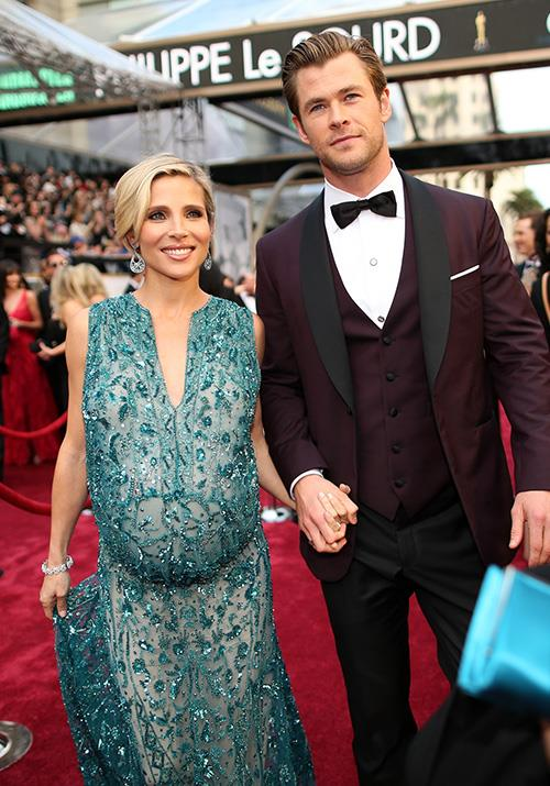 And our favourite Byron Bay locals Chris Hemsworth and Elsa Pataky were couple #goals at the 2014 event. The Spaniard opted for a glorious bump-flaunting Elie Saab gown.