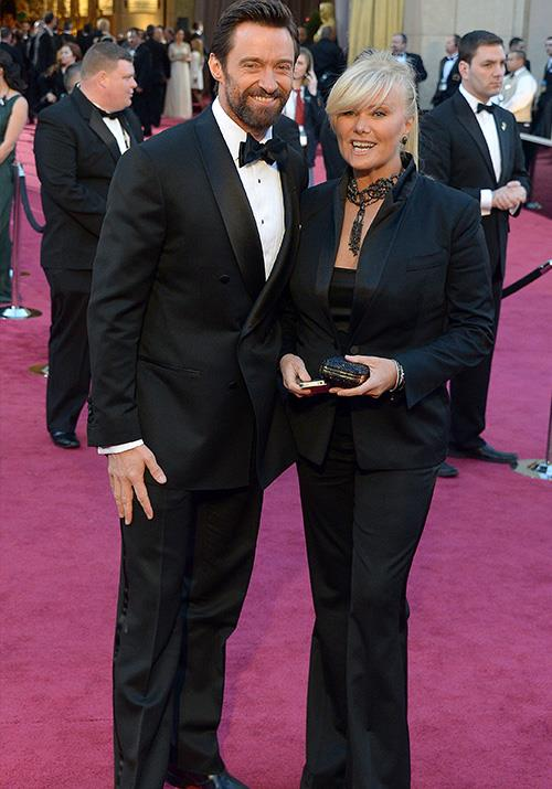 Couple's that match together ... Hugh Jackman and wife Deborra-Lee Furness were the real deal in Tom Ford as they attended the 2013 Oscars.