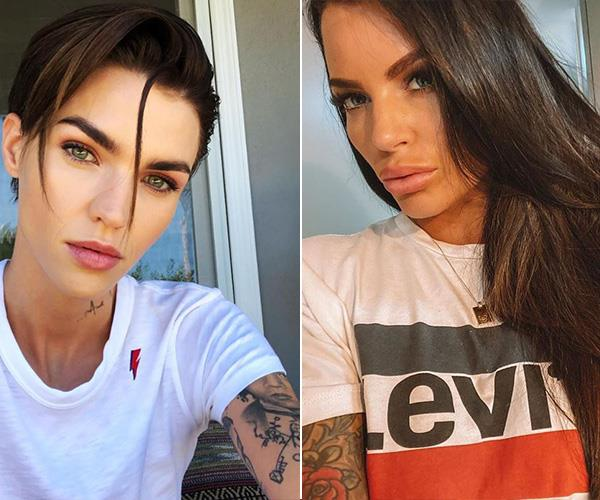 Tats and those dark, mysterious looks? Tash and Ruby Rose could be twins!