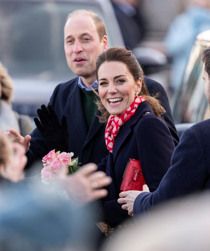 Kate and Wills paid a visit to the seaside area of Mumbles in Wales on Tuesday.