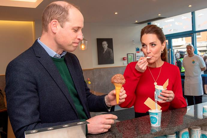 "Wills admitted he was a ""chocolate man"" while Kate dug into a vanilla ice cream."