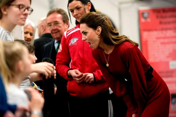 Kate Middleton bumped into her old school teachers in a serendipitous moment during the day's events.