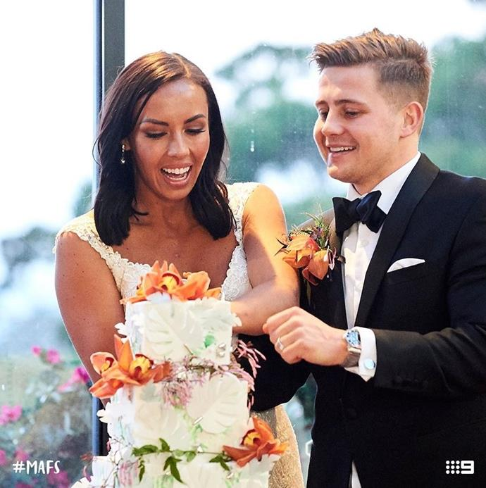 For the show's alpha couple, the experts paired **Natasha and Mikey** but we don't have high hopes for these two after their awkward wedding.