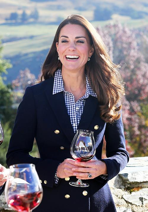 While touring New Zealand in 2014, the royal opted for a checkered Gap blouse worth a blissful AUD $81. We'd be cheers-ing to that bargain too!