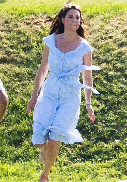 Zara is known for its chic, yet practical designs, and Kate well and truly proved the feat in 2018 when she wore one of the brand's AUD $103 summer dresses to the polo.