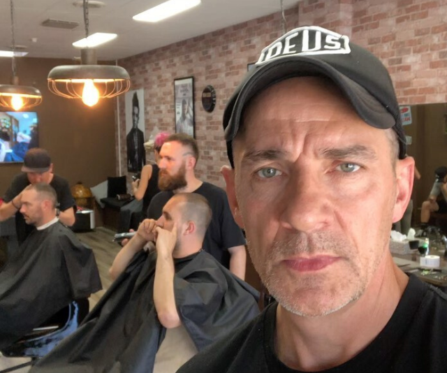 After his battle with his health, Steve opened a barbershop in Melbourne.