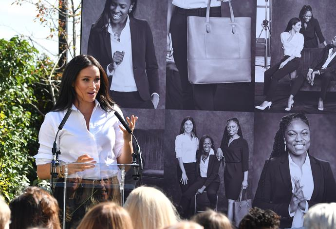 In September 2019, Meghan launched a charitable clothing line with Smart Works.