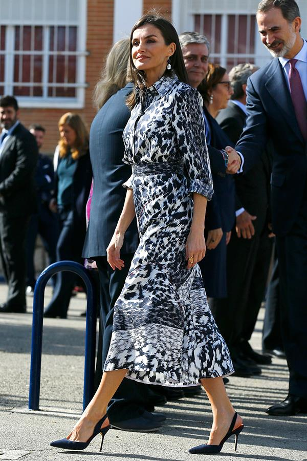 Letizia looked absolutely incredible in her recycled look.