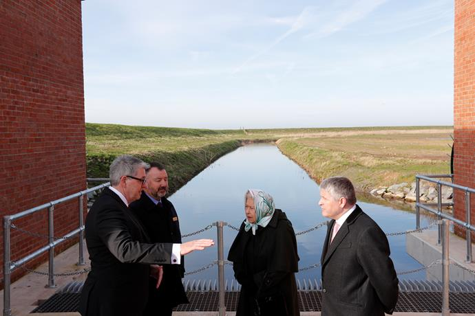 Queen Elizabeth made a poignant visit to a pumping station in Wolferton this week.