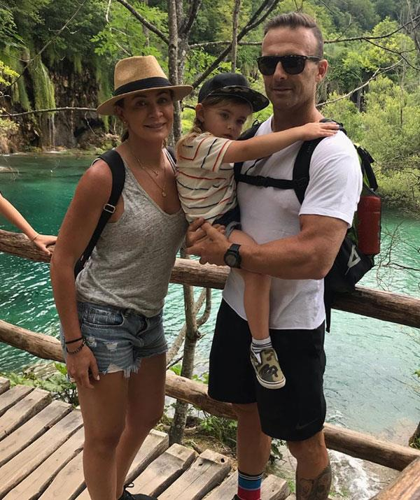 Michelle and Steve with four-year-old son Axel.