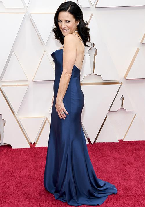 Hollywood stalwart Julia Louis-Dreyfus is radiant in regal blue.