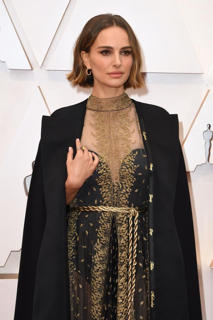 But the best part was hidden in the details for Portman - her Dior cape was embroided with the names of female directors who didn't get nominated for an Oscar.
