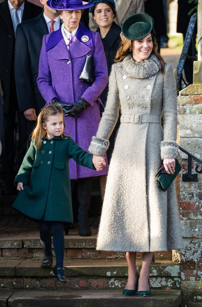 The little princess even copied her mum with her first public curtsy to the Queen.