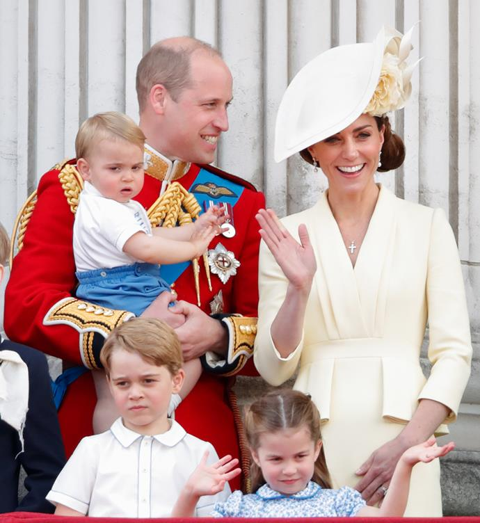 She's nailed that royal wave! Princess Charlotte and her mum were in sync during the 2019 Trooping the Colour.