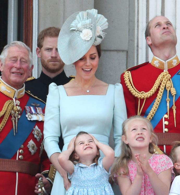 We love those matching baby blue outifts for 2018's Trooping the Colour celebrations.