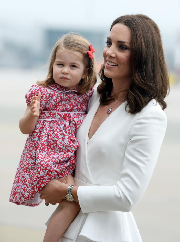 Like Duchess Catherine, the only Cambridge daughter is always a hit with the crowds.