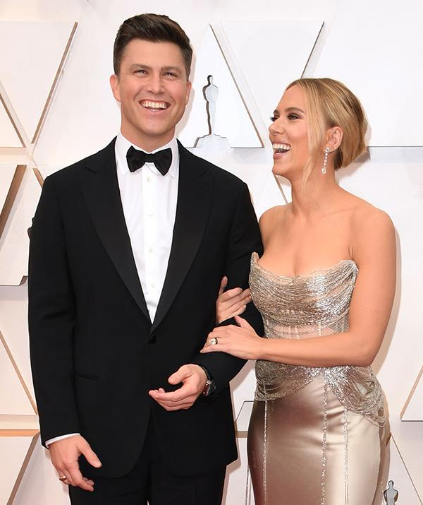 Scarlett's Oscar de la Renta dress showed off every inche of her figure.