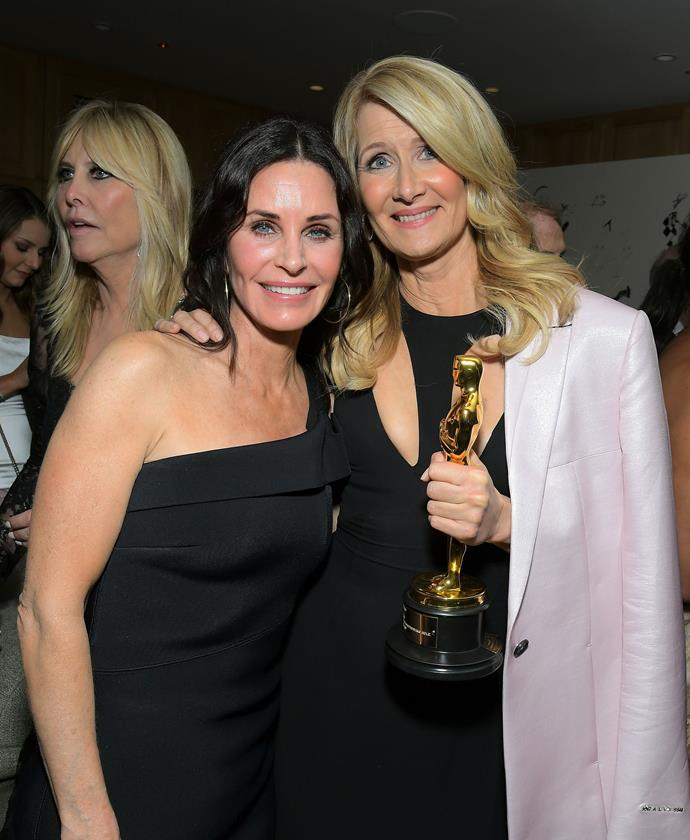 Cox also joined best actress winner Laura Dern during her special evening.